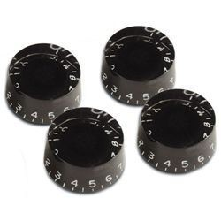 4 *Black Guitar Speed Knob for Les Paul,SG,335 NEW,Metric size