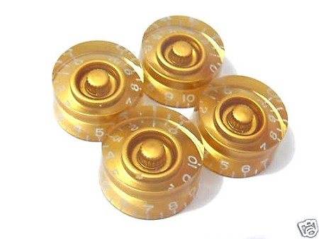 4 *Gold Guitar Speed Knob for Les Paul,SG,335,Inch size