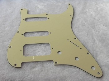 SSH / HSS LONE STAR Fat Strat Pickguard Cream 3ply