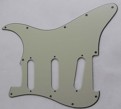 Stratocaster Standard pickguard,Mint Green,fits fender,but no potentiometer mounting holes,no level switche square hole