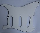 Stratocaster Standard pickguard,Parchment,fits fender,but no potentiometer mounting holes,no level switche square hole