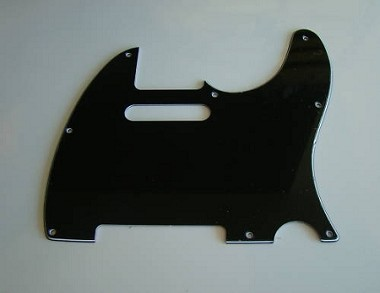 Telecaster '62 pickguard 3ply Black fits fender,#U041