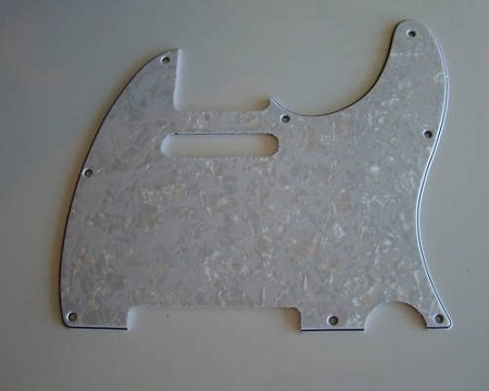 Telecaster '62 pickguard 3ply White Pearl fits fender,#U011