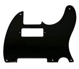 New Painted Bakelite Pickguard,1 ply black '52 Hot Rod Telecaster pickguard,5-hole,pickup cutout for mini humbucker