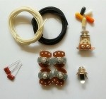Wiring Kit,for Les Paul LP custom,Alpha A / B 500K pot,3 Way Switch,0.023 capacitor,Wire