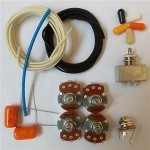 Wiring Kit,for Les Paul LP custom,Alpha A / B 500K pot,3 Way Box Style Switch,0.023 Orange capacitor,Wire