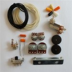 Wiring Kit,for Jazzmaster custom,Pots,Slide Switch,Right Angle toggle switch,bracket,rollder knob,Capacitor,Wire