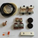 New Wiring Kit,for Jaguar custom,Pots,Black Slide Switch,bracket,rollder knob,Capacitor,Wire,with 56K Resistor