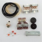 New Wiring Kit,for Jaguar custom,Pots,White Slide Switch,bracket,rollder knob,Capacitor,Wire,with 56K Resistor