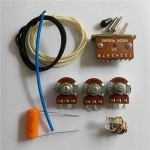 Wiring Kit,for Strat custom,Alpha A500K pot,Good Level Switch,Orange 0.047 capacitor and volume kit,Wire,#WK-ST66