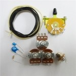 Wiring Kit,for Strat custom,Alpha A250K pot,Quality Level Switch,Ceramic 0.022 capacitor and volume kit,Wire,#WK-ST60