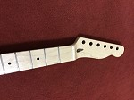 New,Natural Color in Gloss Finish,Telecaster Neck 22 frets,Maple Fingerboard,10mm machine head mounting hole,fingerboard inlay black dots,free shipping