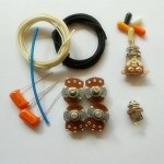 Wiring Kit,for Les Paul LP custom,Alpha A / B 500K pot,3 Way Switch,0.023 Orange capacitor,Wire