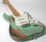 Eric Custom,Relic Strat Electric Guitar Alder Body Surf Green,2 Weeks Production Time