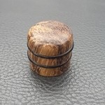 Wood knob,Dome Shape,Zebra wood,Push on style Knob
