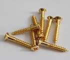 15pcs,Bridge mounting screws for Tele/ P Bass /J Bass,Gold,Diameter:3.5mm