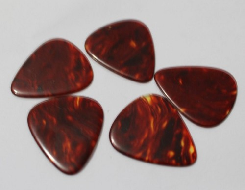 5Pcs* Tortoise Shell Celluloid,Guitar Picks,1.5mm,351 size
