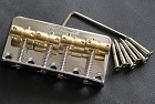 Wilkinson WBBC 4Strings Bass Bridge, Brass Saddle Chrome