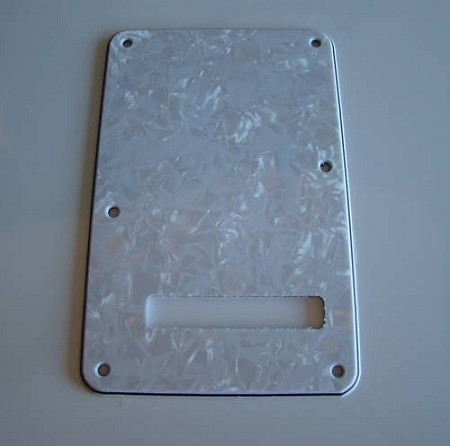 3Ply White Pearl Standard Back Plate Tremolo Cover for Fender,#AA044