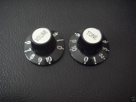 2 Witch Hat Knob for Epiphone Les Paul SG CR Top/CR,Metric size